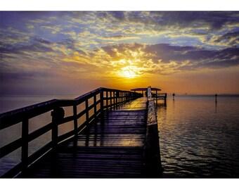 Fine Art Landscape Photography - Safety Bay, Nature Photography, Sunrise, Safety Harbor, Florida, Prints, Canvas