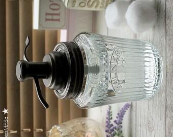 Kilner Vintage Preserve Jar Soap Dispenser with Oil Rubbed Bronze Water Well Pump **UK SELLER**