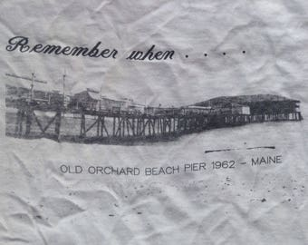 Vintage t shirt USA Old Orchard Beach Pier 1962 Maine large