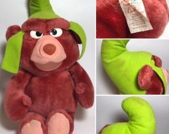 1985 Fisher Price DISNEY Gummi Bears Gruffi Plush 80s gummy bear TV SHOW gruffie Vintage Retro Find Original Teddy like ducktales talespin