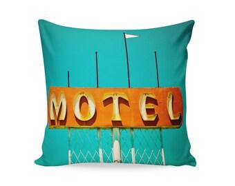 Mid Century Modern Pillow Cover | Neon Sign Pillow | Motel Sign | Retro Home Decor | Decorative Pillow Cover | Palm Springs Decor