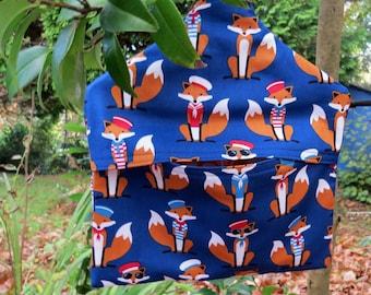 Foxes.  Fox peg bag.  Laundry.  Peg storage.