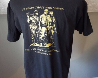 Vintage Vietnam Veterans Memorial T Shirt by Hanes