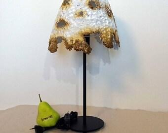 Paper mache lamp etsy tischleuche paper machebronzewhiteambianceunique aloadofball Gallery