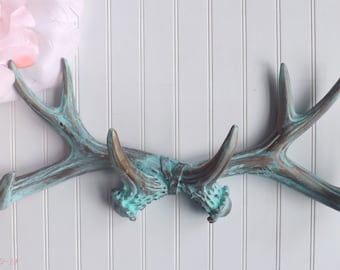 Deer Antlers,Antler Gift,Deer Decor,Antlers Decor,Deer Gift,Faux Deer Antlers,Resin Antlers,Rustic Wall Decor,Jewelry Holder