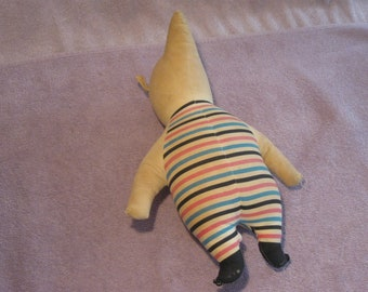 Vintage Piglet Stuffed Animal   Winnie The Pooh Character   Striped Piglet Stuffed Animal