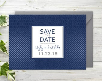 "Elegant Save The Date Cards - 5"" x 7"" Spotted Wedding Announcement Cards - Save The Dates - Custom Save the Dates - Photo Cards - #satd-183"