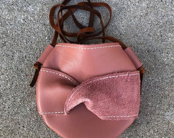 Tiny Things Purse - Twisted Bow - Dusty Rose