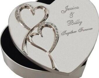 Silver Heart Shaped Jewelry Box