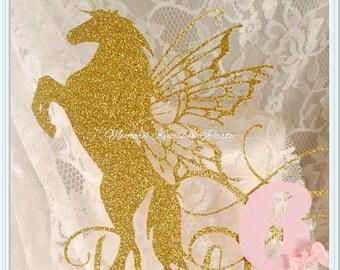 Pegasus Cake Topper - Pegasus Cupcake Toppers - Pegasus Party Decorations - Pegasus Party Decor - Pegasus Birthday Party Cake Topper - Party