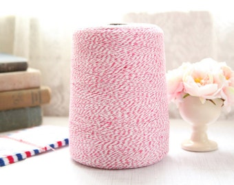25 Yards PINK Baker's Twine, FREE SHIPPING with another purchase, String Twine, Bakers Twine, Holiday, Gift, Packaging Twine