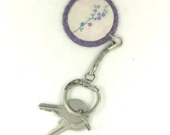 Hand made keychain with creative reuse of bottle stopper