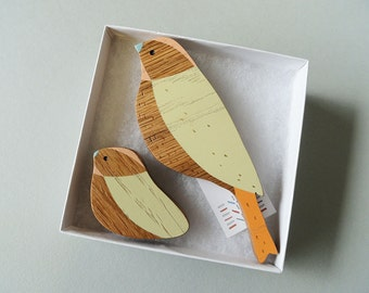 Wooden Wall Birds - Mother & baby sets - Mother's Day Gift