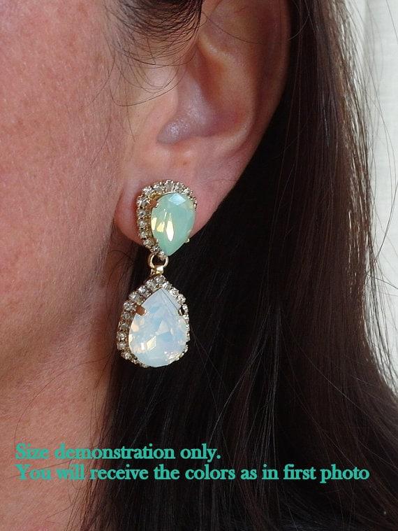 Rose gold Chandelier earringsRose gold blush Bridal