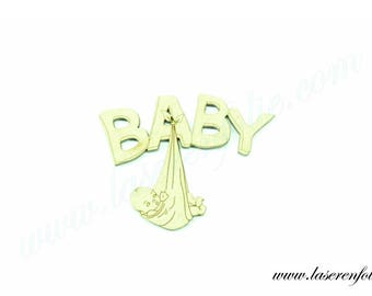Baby hanging from BABY, made in medium, size 5cm
