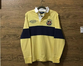 Sale Vintage Polo by Ralph Lauren shirt long sleeve/Polo Rugby/Nice Design/Small logo/Size Medium.
