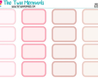 Half Boxes in Blushing Bride Planner Stickers
