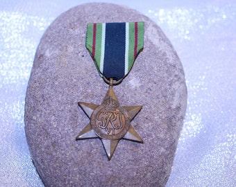 Vintage African Star Medal Ribbon Bar