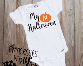 My First Halloween - Baby's First Halloween - Newborn Halloween - My 1st Halloween