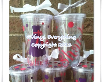 Set of 12-16oz Personalized Wedding Tumbler