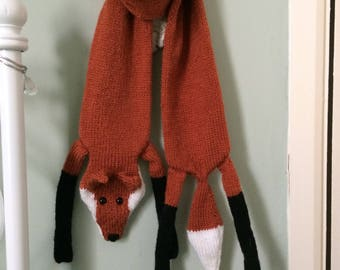 Fox Scarf Knitting PDF Pattern