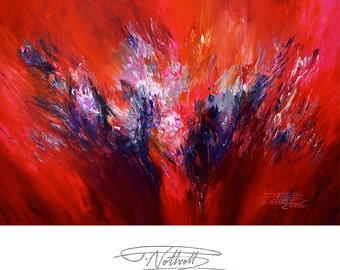 "61.0"" x 41.3"". Large Abstract Painting. Magenta, Pink, Red."