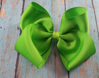 Large Apple Green Hair Bow, Large Green Bow, Apple Green Bow, Large Green Bow, Big Green Bow, Big Apple Grin Bow, Green Hair Bow, Green Bow