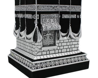 Islamic Table Decor Kaba Replica Silver & Black