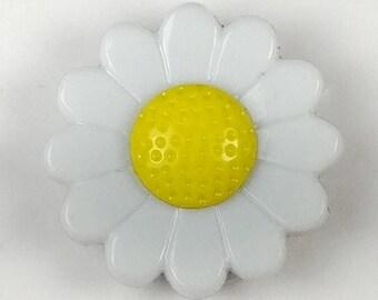 Cross Stitch Needleminder White and Yellow Daisies