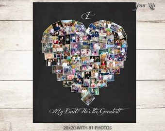 DAD Gift, Personalized Photo Collage, Dad Birthday Gift, Best Dad Gift, Gift for Dad, Father's Day Gift for Parents, Dad Father's Day Gift