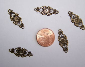 SET of 5 long costume jewelry connectors