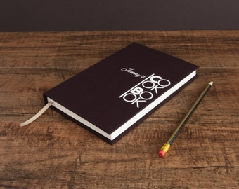 Personalised recipe book -unique hardback handbound recipe journal. Personal cookbook in a range of beautiful contemporary colours.