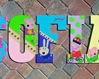 Peppa Pig Letters