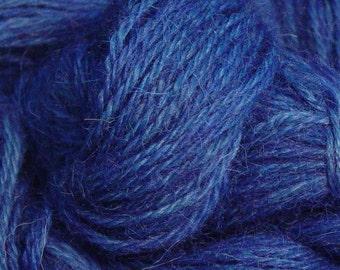 Hand gefärbt Alpaka-Garn in blau - Finger Wt - 250 yds
