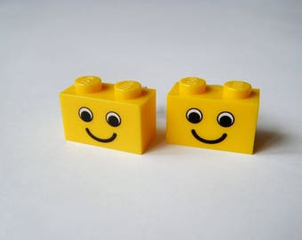 ♥ Lego bricks earrings ♥ smile ♥