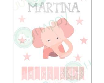 Custom Birth Announcement   Baby Birth Printable   Birth Printable   Baby Birth Print   Nursery Art Printable   Nursery Wall Art   Baby Gift