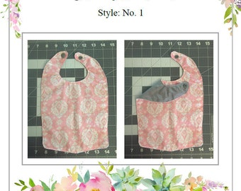 PDF Long Baby Bib Pattern, Style No. 1