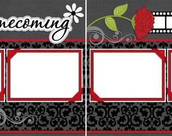 Homecoming - Digital Scrapbooking  Quick Pages - INSTANT DOWNLOAD