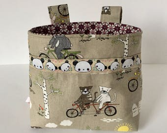 Bike bag handlebar bag kids Bike basket Gift Cats
