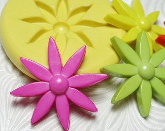 MOD FLOWER Flexible Silicone Push Mold for Resin Wax Fondant Clay Fimo Ice 1235