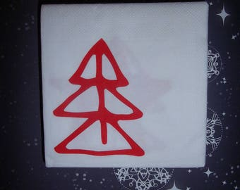 Christmas - tree and star paper towel-