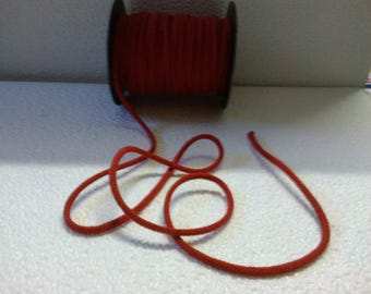 Girdle matte red 4mm wide (stranded 666)