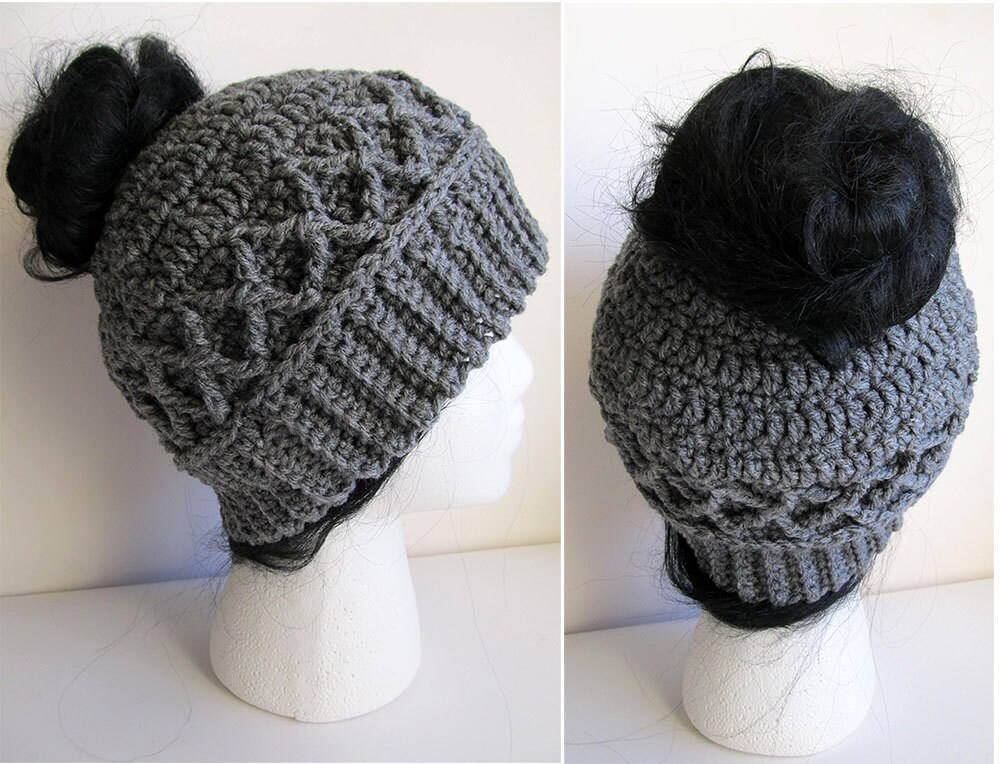 Messy Bun Hat Crochet Pattern Pattern For Crochet Ponytail