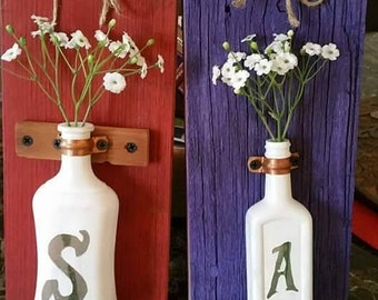 Antique Bottle Wall Vase Door Greeting