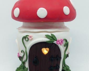 Toadstool Fairy house Night Light