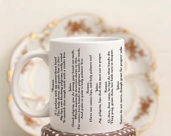 literary mugs - love quote coffee mug - Romeo and Juliet Quotes Mug, Shakespeare Gifts Mug with Quote, Coffee Mug with Shakespeare Quote