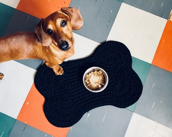 Dog bone Placemat, crocheted in 100% cotton