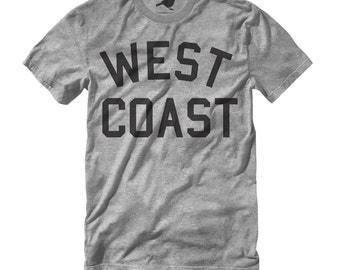 West Coast T Shirt by Hatch For Kids - Children's Clothing East West Coast Tee Shirt California CA Oregon Washington City - Size 2T 4T 6 8+