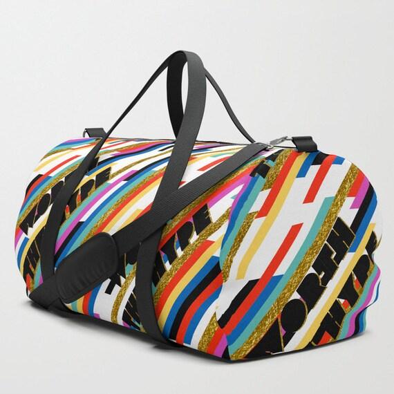 Worth The Hype Stripe duffle bag
