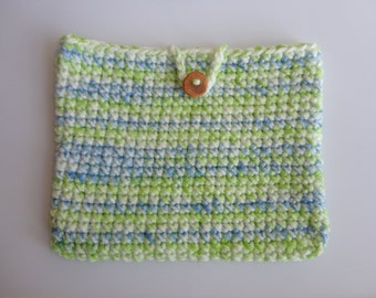 SALE Crocheted Tablet Sleeve -Crocheted Tablet Cover -iPad Cover- Crocheted Tablet Case- Crocheted iPad Sleeve - Tablet Case - Tablet Sleeve